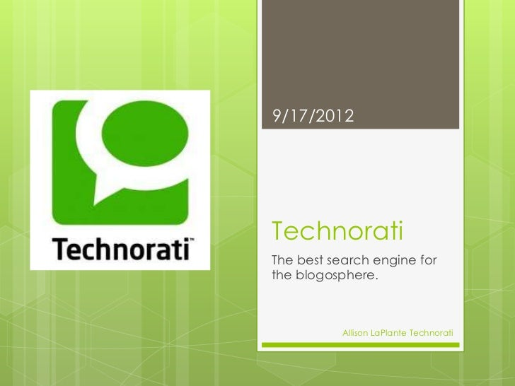 Technorati powerpoint