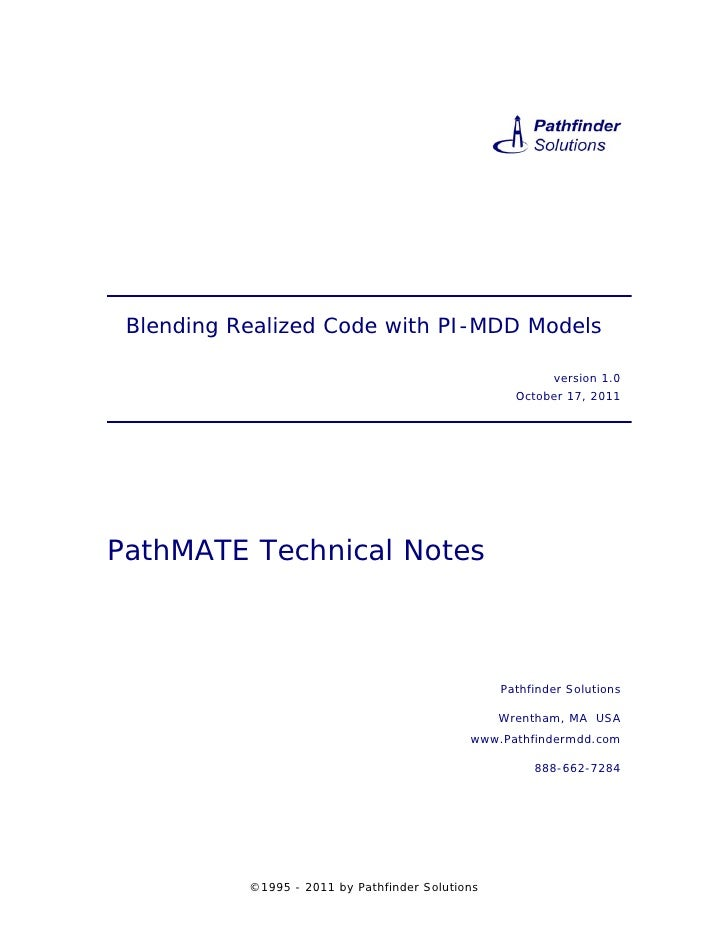 Blending Realized Code with PI-MDD Models                                                          version 1.0            ...