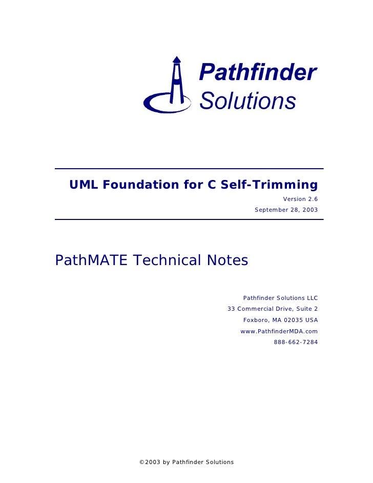 UML Foundation for C Self-Trimming                                                      Version 2.6                       ...