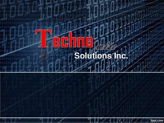 Techno wise business presentation v3