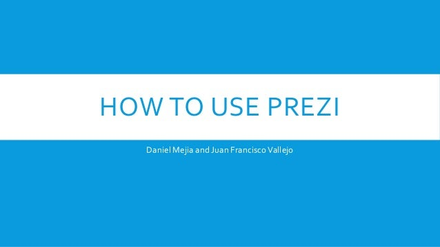 How to use Prezi, the easy way