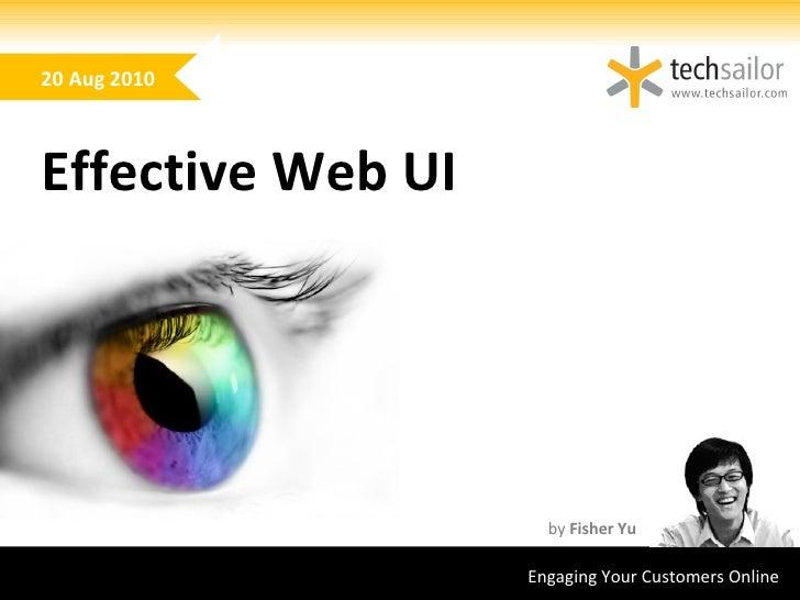 Effective web UI