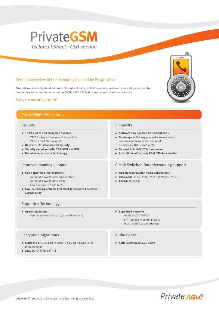 Technical Sheet - PrivateGSM CSD - english
