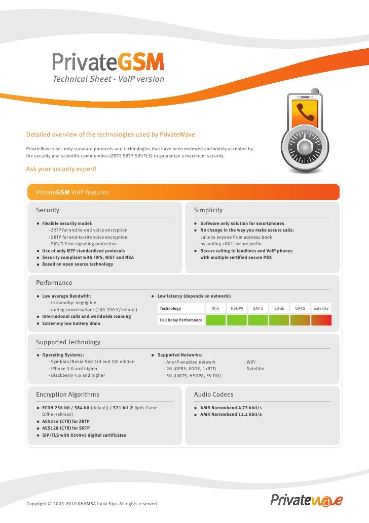 Technical Sheet - PrivateGSM VoIP - english
