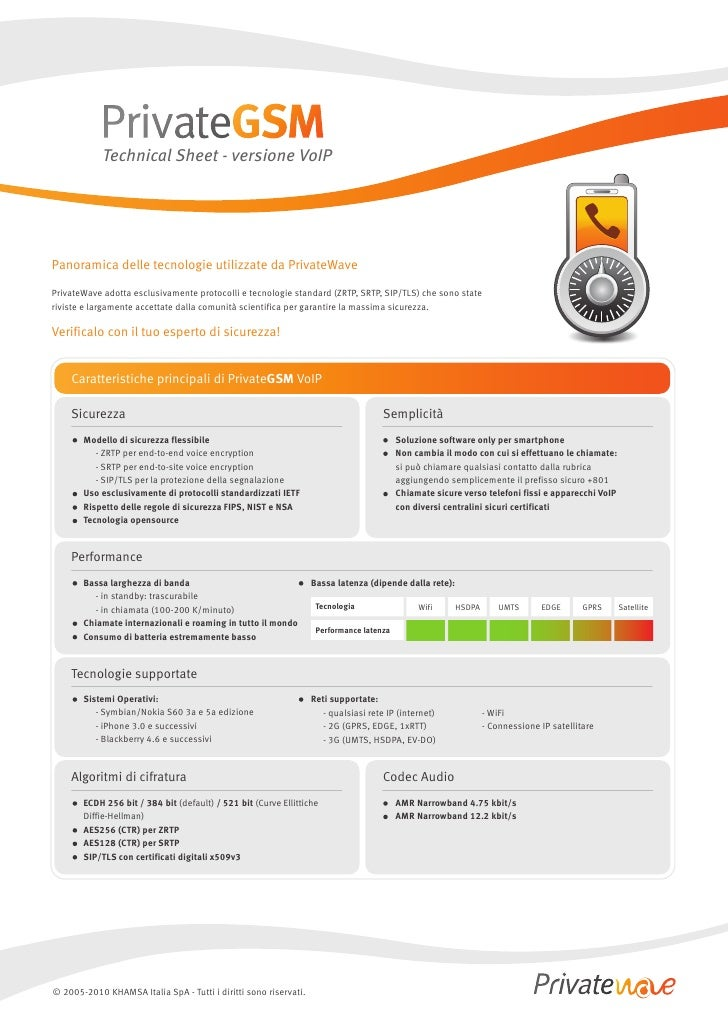 Technical Sheet - PrivateGSM VoIP