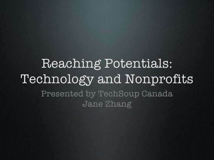 Reaching Potential: Technology and Nonprofits