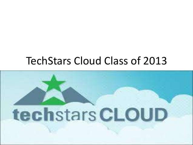 TechStars Cloud Class of 2013