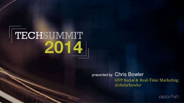 presented by Chris Bowler GVP Social & Real-Time Marketing @chrisrbowler