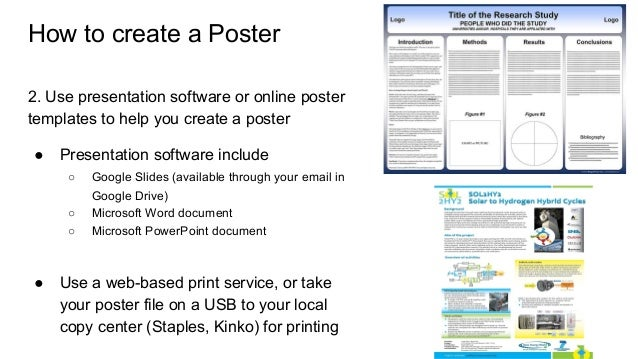 How to make a good poster board presentation