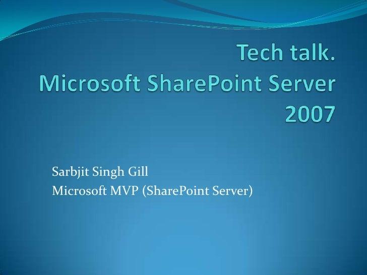 UBS Tech Talk by MVP Sarbjit Singh Gill