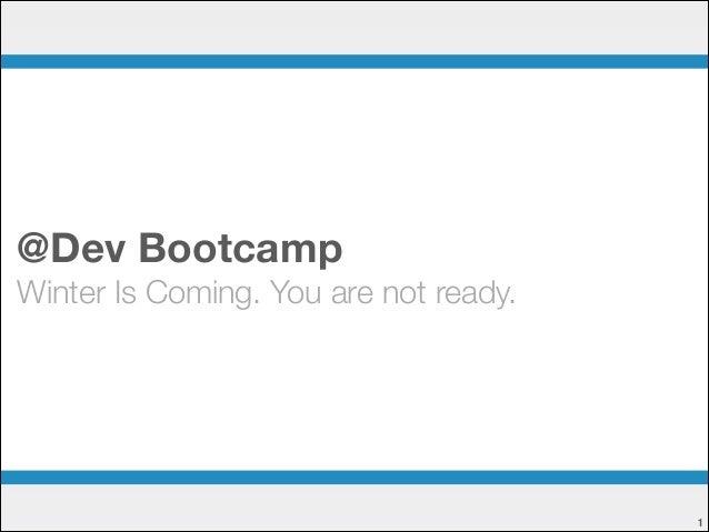 Tech Talk @ Dev Bootcamp Chicago