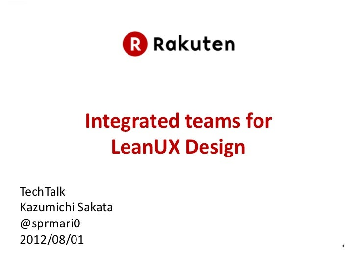 LeanUX at Tech Talk