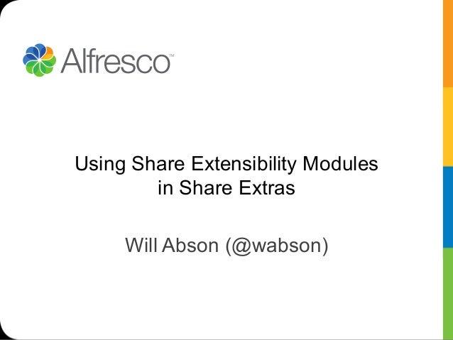 Tech talk live   share extras extension modules feb 13