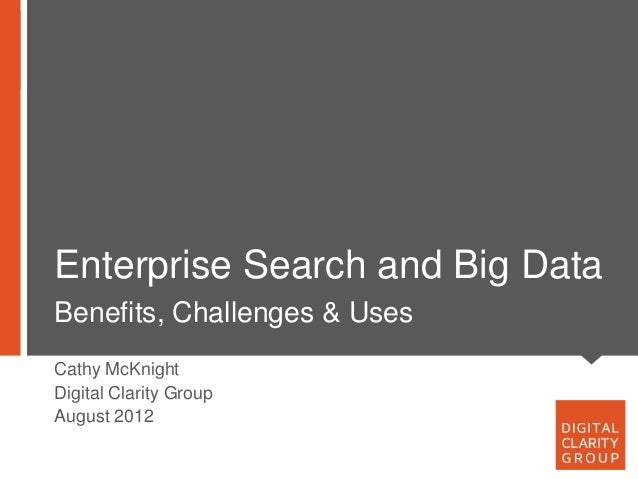 Big data and enterprise search trends 120827nn