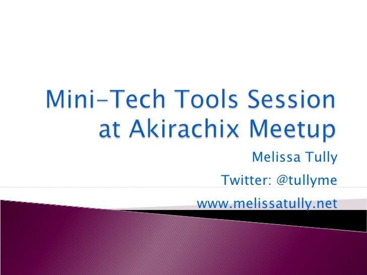 Mini Tech Tools Session at Akirachix Meetup