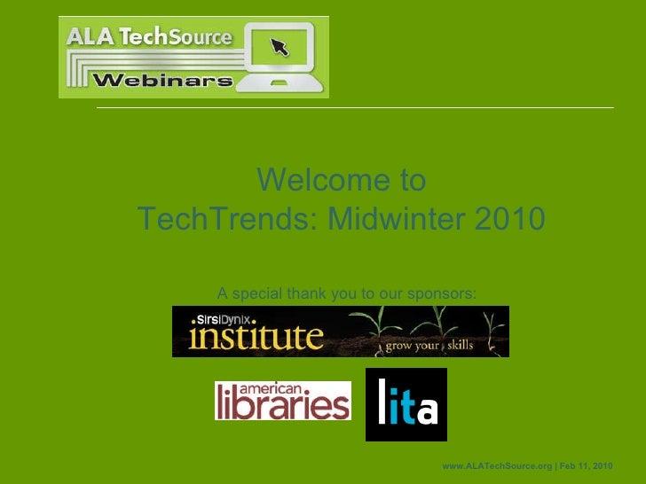 Techtrends2010 webinar