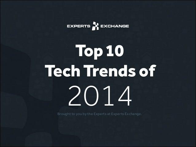 Top 10 Tech Trends of 2014