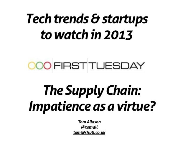 First Tuesday: Tech trends & startups to watch in 13