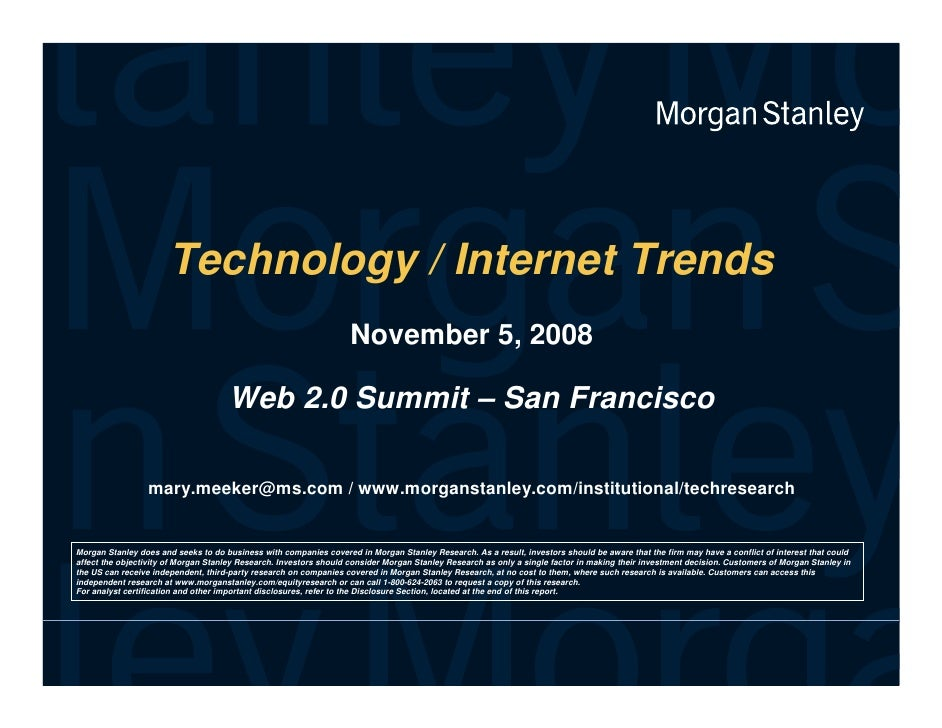 Mary Meeker at Web2.0 Summit