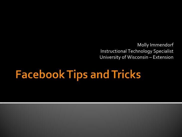 Tech Tuesday: Facebook Tips Jan 2010