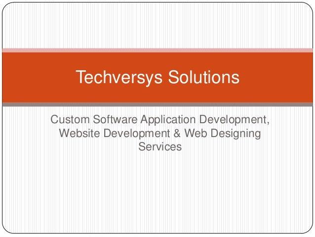 Custom Software Development Company - Techversys solutions