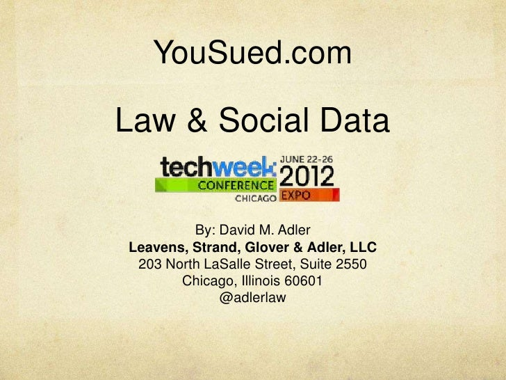Tech Week Chicago 2012: Law & Social Data
