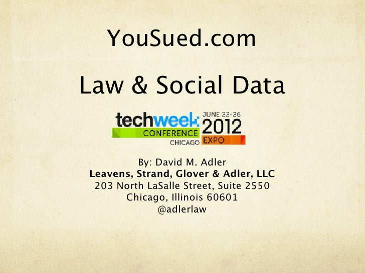 Gagnier's Portion of TechWeek Chicago Presentation