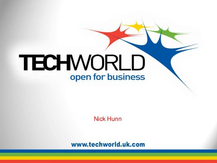 TechWorld Nick Hunn presentation