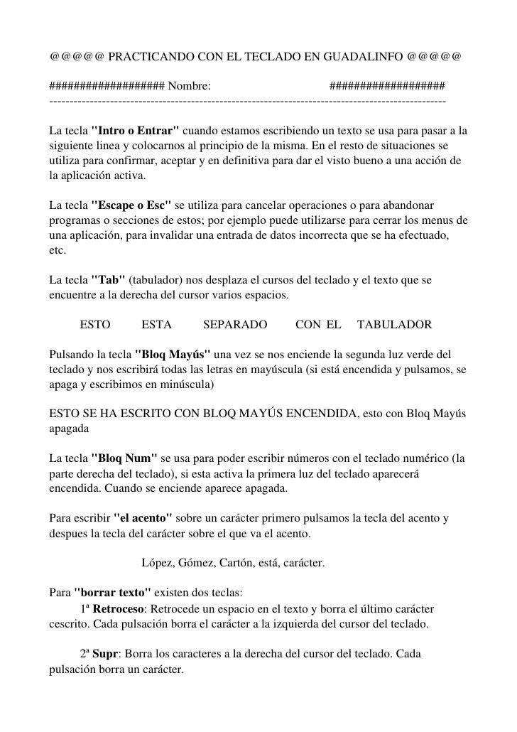 @@@@@PRACTICANDOCONELTECLADOENGUADALINFO@@@@@###################Nombre:                                        #...
