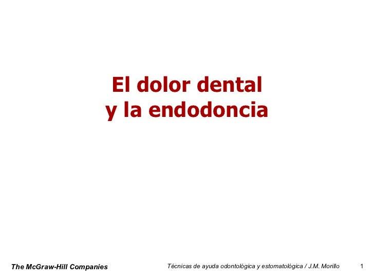 El dolor dental y la endodoncia