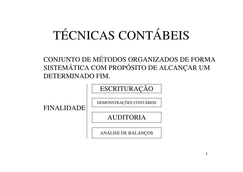 Tecnicas contabeis aula 03
