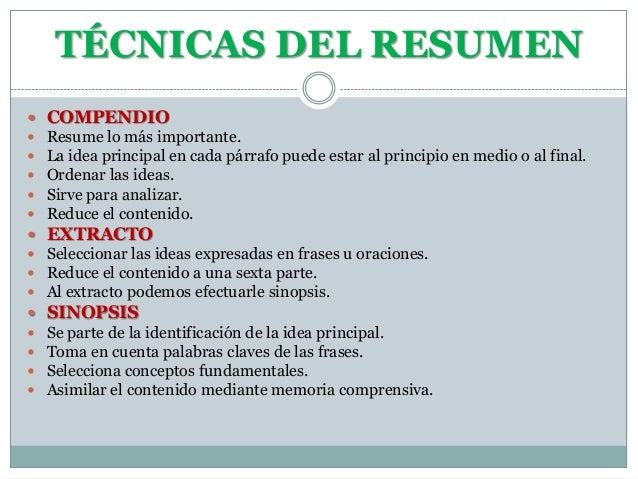 Tecnicas de estudio diapositivas for Tecnicas gastronomicas pdf