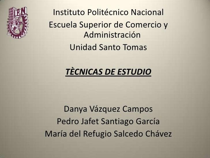 Tecnicas De Estudio Mary Salcedo