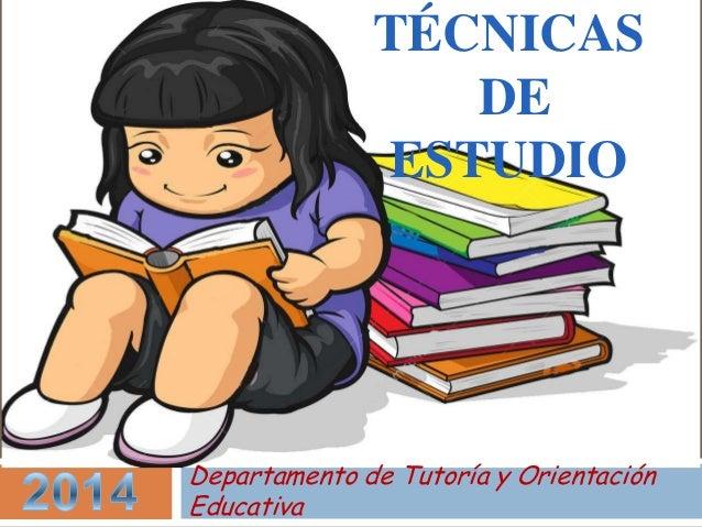 Tecnicas de estudio para niños