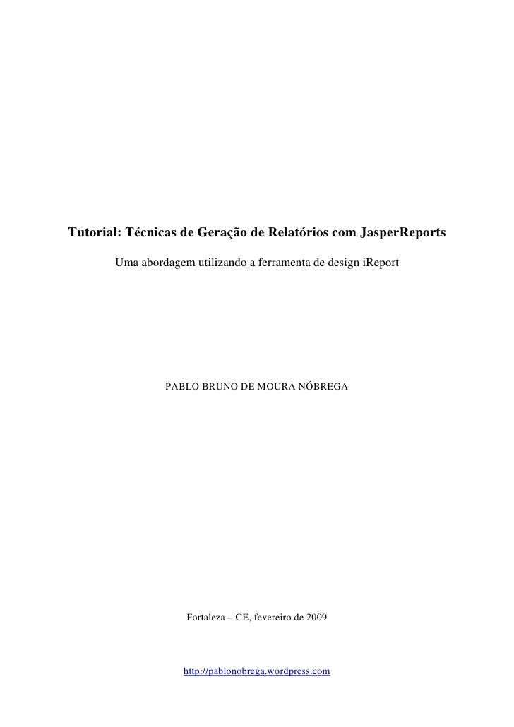 JasperReports  Tecnicas de geracao_de_relatorios1