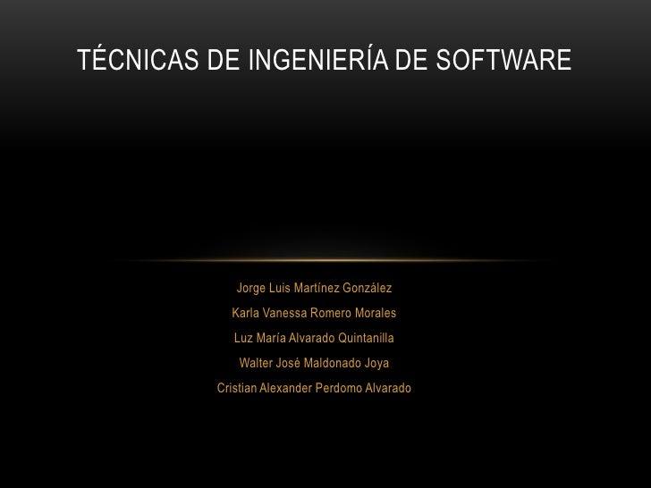 Tecnicas de ingenieria de software