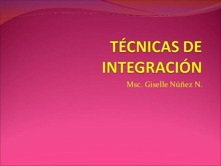 Msc. Giselle Núñez N.