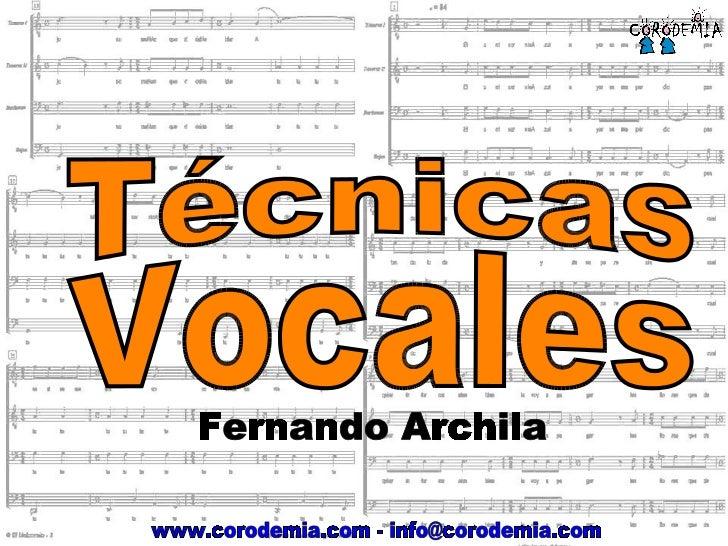 Tecnicas Vocales para Adolescentes