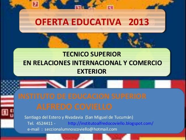 Tecnico superior en relaciones internacional y comercio exterior