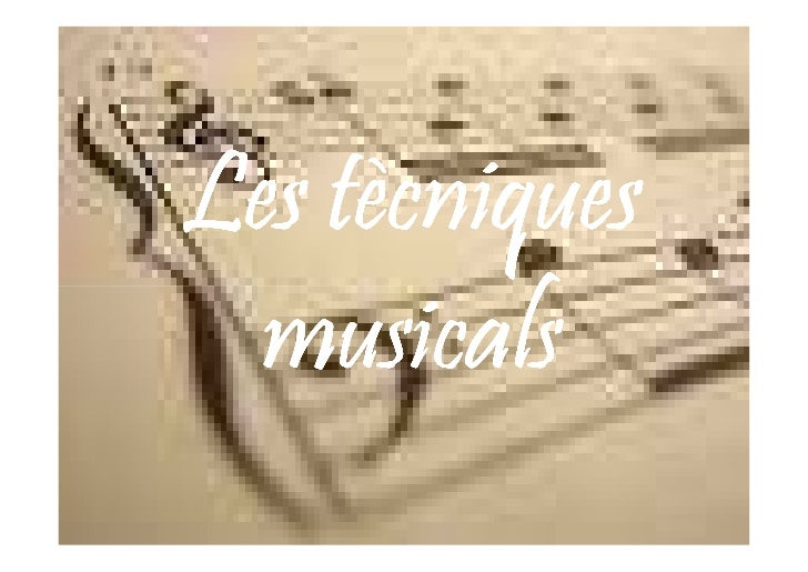 Tecniques Musicals