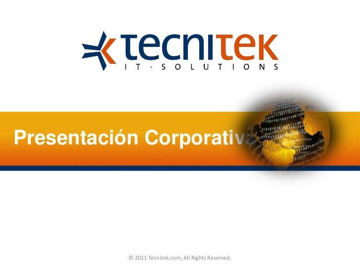 Tecnitek Presentacion Corporativa