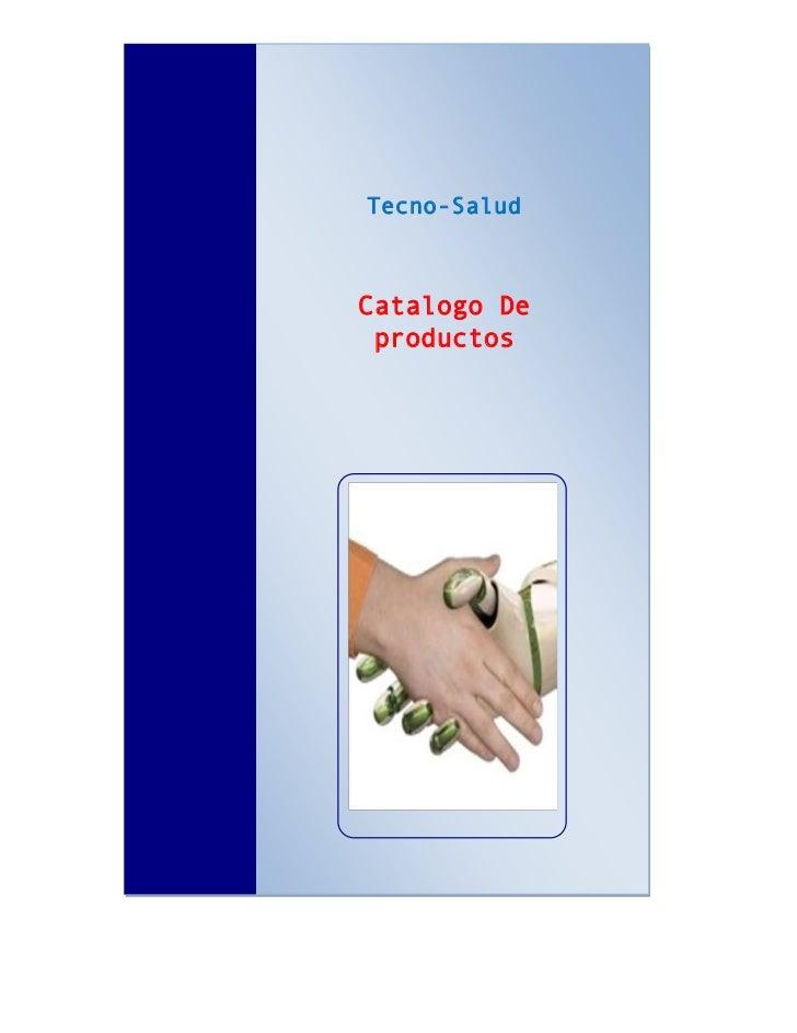 Tecno-SaludCatalogo De productos
