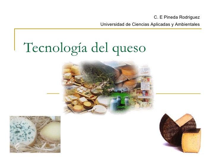 Tecnología del queso C. E Pineda Rodriguez Universidad de Ciencias Aplicadas y Ambientales