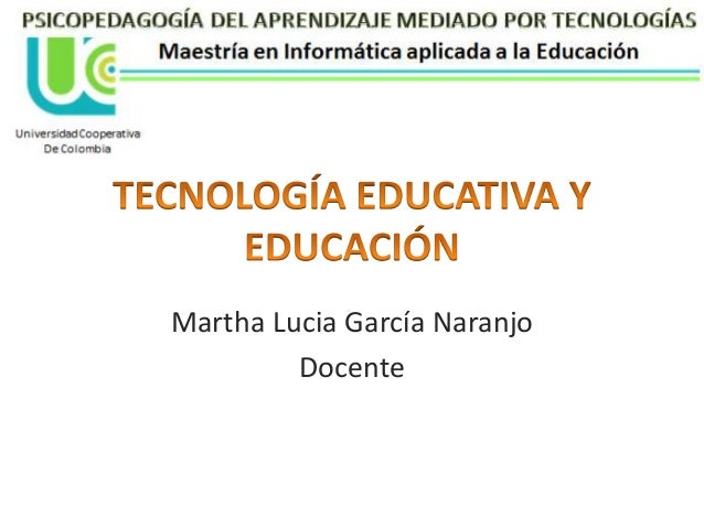 Martha Lucia García Naranjo Docente
