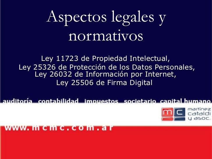 Tecnología aspectos legales y normativos
