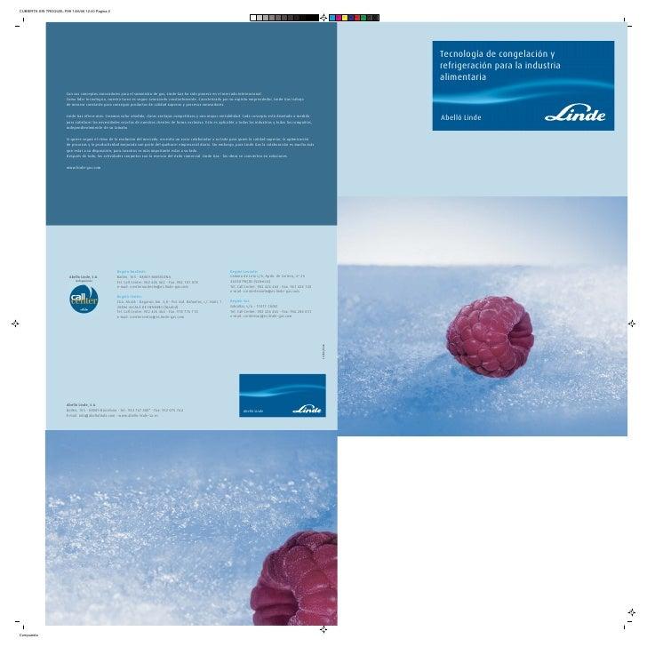 Tecnología de congelación y refrigeración para ind.alimentaria 10458 0606