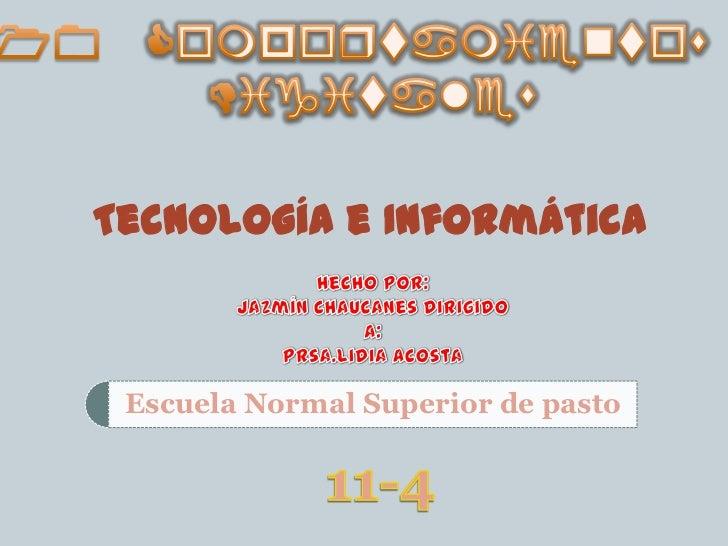 10 Comportamientos<br /> Digitales<br />Tecnología e Informática<br />Hecho Por:<br />Jazmín Chaucanes Dirigido a:<br />Pr...
