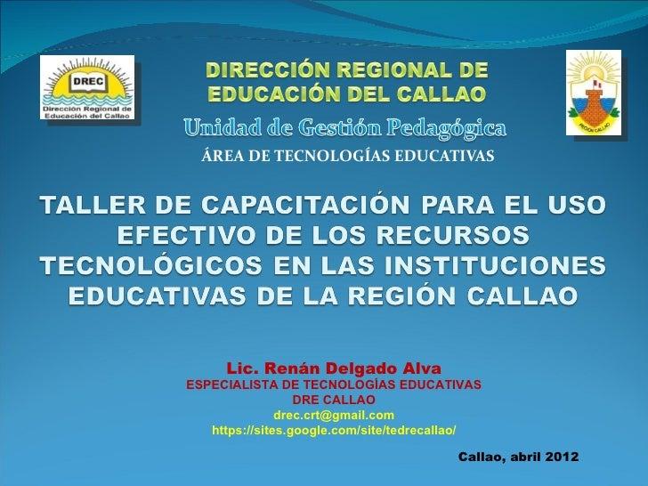 Tecnologías educativas 2012