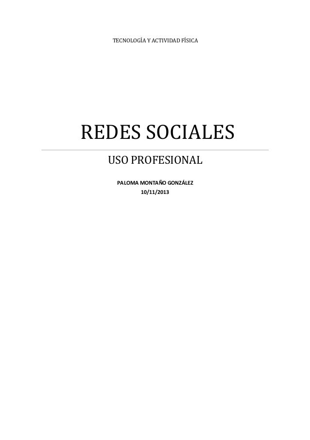 Uso profesional redes sociales