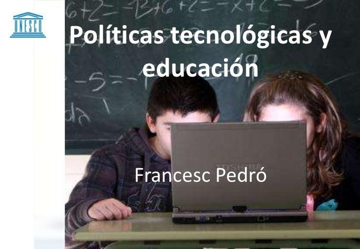 Tecnología y escuela CEPAL UNESCO